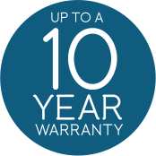 Up to a 10-year warranty