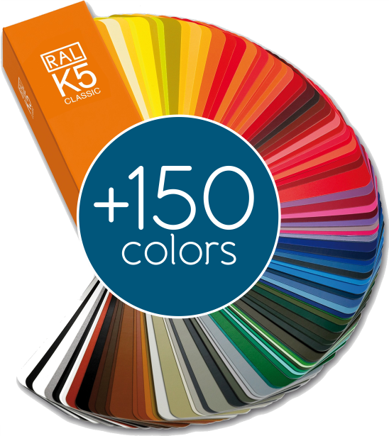 Over 150 colors