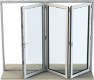Bi-fold door with 3 panels