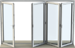 Bi-fold door with 4 panels
