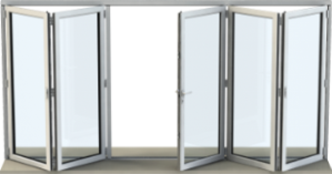Bi-fold door with 5 panels